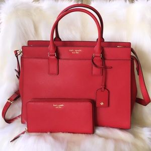 💃Kate Spade Cameron Large Satchel and Wallet Set
